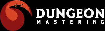 dungeon mastering logo white